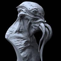 Cthulhu Sculpt by DominicQwek