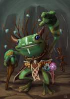 Frog Shaman by whiteoxygen