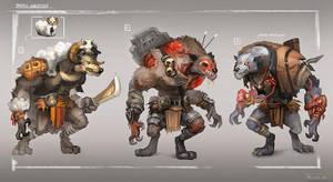 Wolf types by whiteoxygen