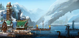 Viking Harbour1 by whiteoxygen