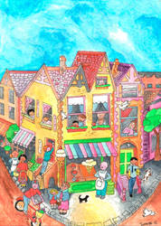 A happy town by LeitaGR