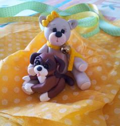 Bear and Dog by LeitaGR