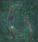 red mermaid by C4mi