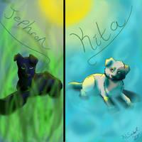 Jephron/Kita Puppy Portrait by KLSenko