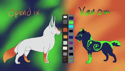 Open Venom Combined Ref sheet by KLSenko