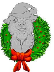 Wreath Puppy YCH by VividdixStudios