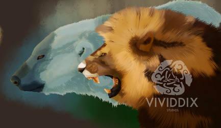 Lion and Bear by VividdixStudios