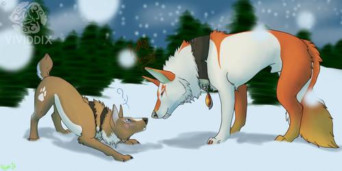 We Met in the Snow by VividdixStudios
