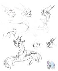Fielja Sketchdump by The-Snowlion