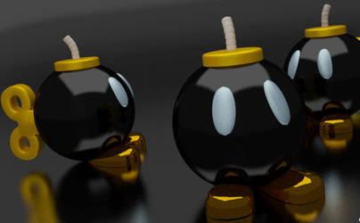 Super Mario Bombs (fan art) by albychip23