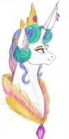 Princess Celestia Gala Bust by colourssx