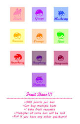 Fruit Buns SALE by XSpeak2MeX
