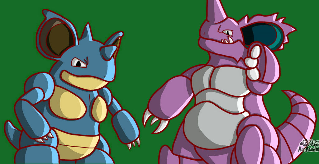 Nidoking and Nidoqueen by Glen-i