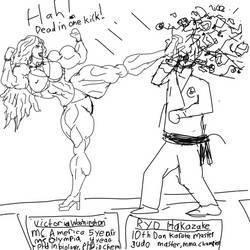 Ms. America vs karate master by jojobario
