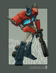 Optimus Prime by CreatureBox