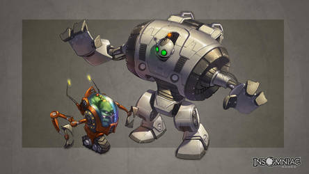 Giant Clank and Mini Qwark by CreatureBox