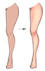 Leg coloring tutorial by xxNIKICHENxx