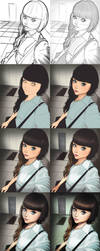 Portrait order 7 Step by step by xxNIKICHENxx