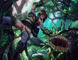 Comm work 35 Morbol attack (Final Fantasy XIV) by xxNIKICHENxx