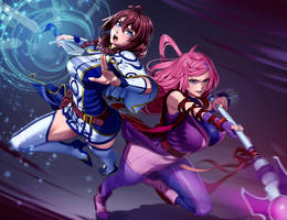 Comm work 36 Fighting girls by xxNIKICHENxx