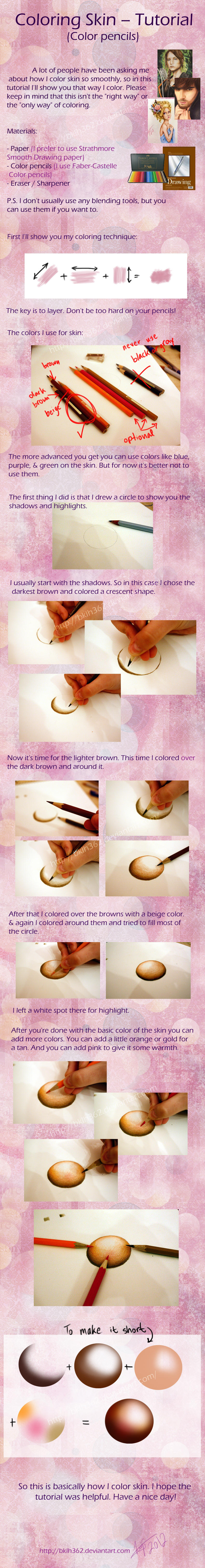 Coloring Skin (Color pencils tutorial) by BKLH362 on DeviantArt