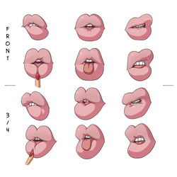 Inflated Lips Reference Sheet by SpiralingStaircase