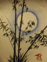 Bamboo Moon by LongTian