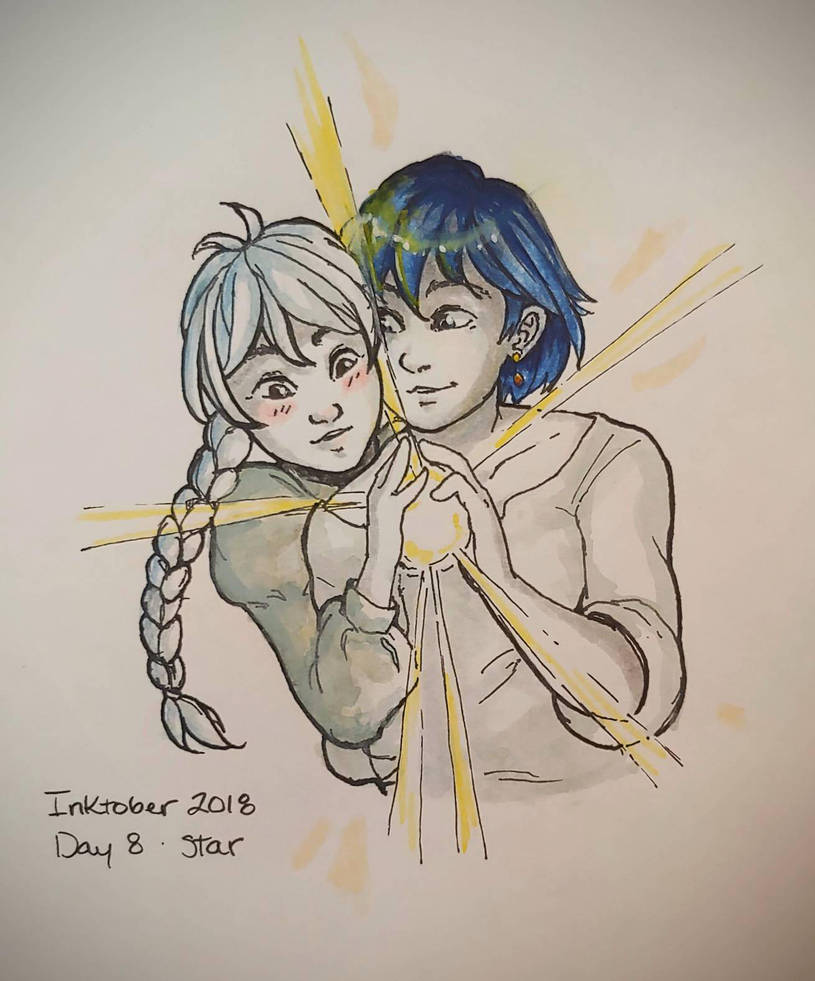 Inktober 2018 Day Eight: Star by Risika93