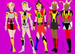 Megazord Fashions Draft 1 by LavenderRanger