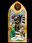 Stained Glass - White Ranger MM by LavenderRanger