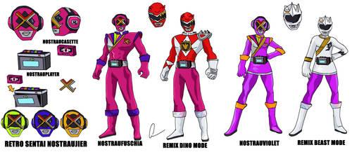 Retro Sentai Nosutarujier - redesign 1 by LavenderRanger
