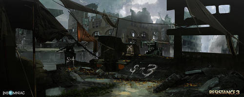Resistance 3 - Remnants Hideout by dee-virus
