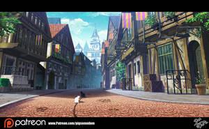 fantasy landscape by Pigsomedom