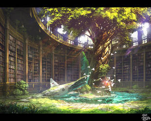 Library by Pigsomedom