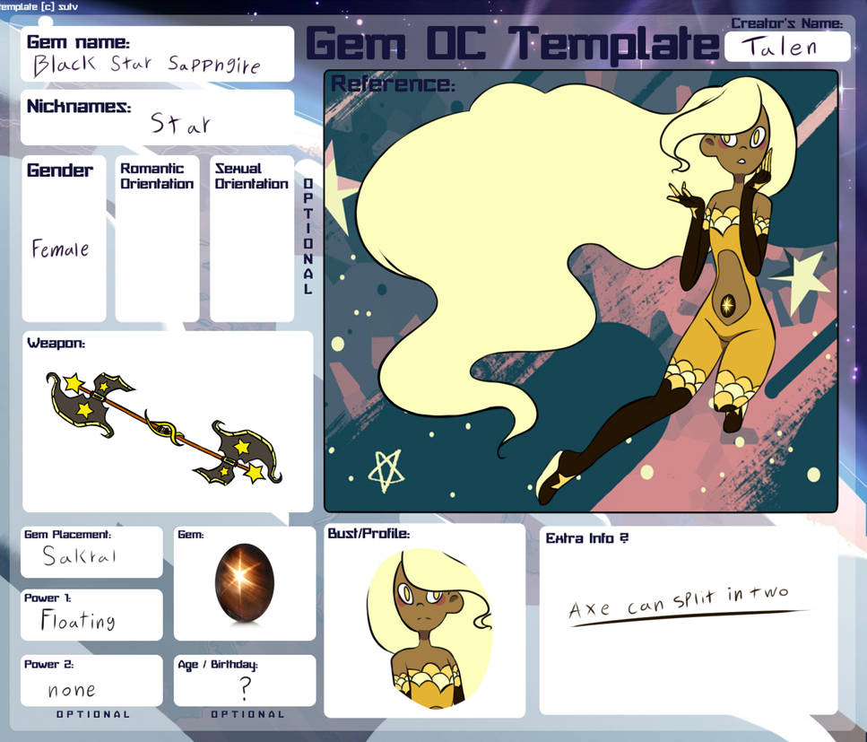 Steven Universe Oc Black Star Sapphire By Bi0 Z Hazard On Deviantart
