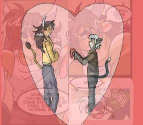 Valentine Minos+Miles Fanart by StringPetounPing