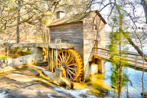 Gristmill by oldhippieart