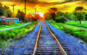 Tracks by oldhippieart