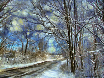 Winter Snow by oldhippieart