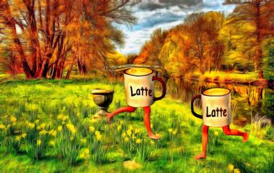 Latte Twins by oldhippieart