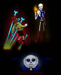 UT: Papyrus vs Chara by TardyPrincess