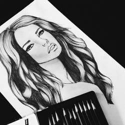 Portrait Drawing  by itscolleenmatti