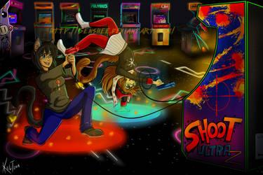 Fun at the Arcade! :com: by Senshee