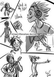 Humility Gorillaz Fast Sketches by Senshee