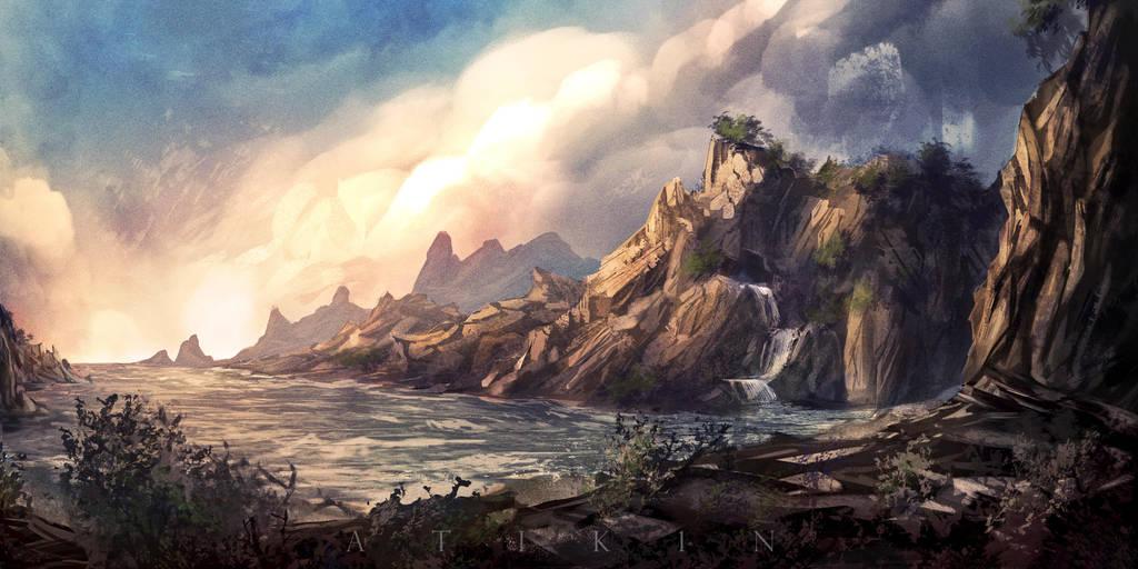 The bay of Eldan by Atik1n