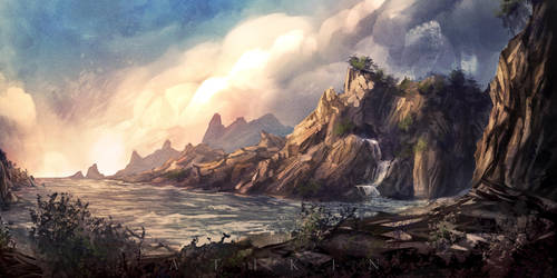 The bay of Eldan by Atik1n