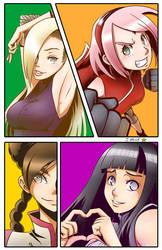Shonen Jump Girls - Sakura n Ino n Hinata n Tenten by kentaropjj