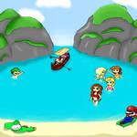 Mario and friends at Maya Bay by NoTeethBilly