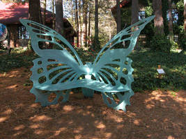 Butterfly Bench Stock 1 by HauntingVisionsStock