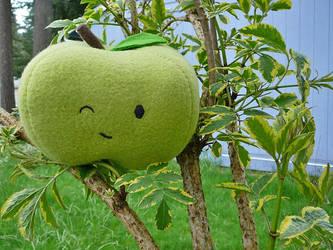 Green Apple Plushie by stefania-zee